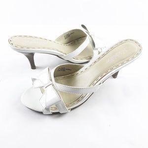 Madeline Stuart White Bow Tie Heels Size 9.5